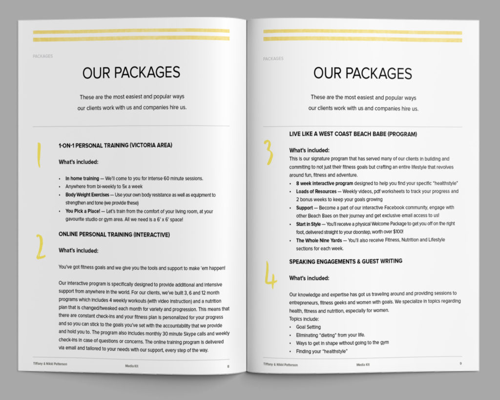 Media Kit Extra Pages